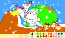 jeu Coloriages p�re noel